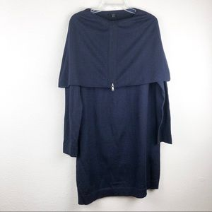 COS Fold Over Shoulders Tunic Sweater Dress